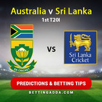 Australia v Sri Lanka 1st T20I Prediction and Betting Tips