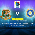 Bangladesh vs India 2nd Match Prediction Betting Tips Preview