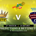 BPL 2nd Match Rajshahi Kings v Rangpur Riders 04 November 2017 Predictions and Betting Tips