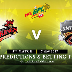 BPL 5th Match Chittagong Vikings v Comilla Victorians 07 November 2017 Predictions and Betting Tips