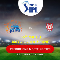Chennai Super Kings vs Kings XI Punjab 56th Match Prediction Betting Tips Preview