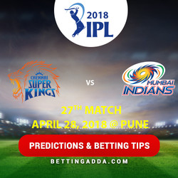 Chennai Super Kings vs Mumbai Indians 27th Match Prediction Betting Tips Preview