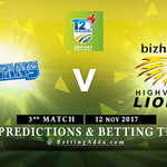 CSA T20 Challenge 3rd Match Titans v Lions 12 November 2017 Predictions and Betting Tips