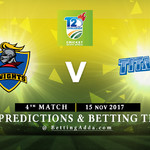 CSA T20 Challenge 4th Match Knights v Titans 15 November 2017 Predictions and Betting Tips