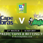 CSA T20 Challenge Cape Cobras v Dolphins 2nd Match 12 November 2017 Predictions and Betting Tips