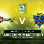 CSA T20 Challenge Warriors v Knights 10 November 2017 Predictions and Betting Tips