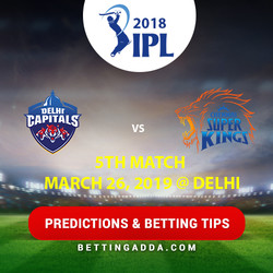 Delhi Capitals vs Chennai Super Kings 5th Match Prediction Betting Tips Preview