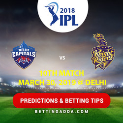 Delhi Capitals vs Kolkata Knight Riders 10th Match Prediction Betting Tips Preview