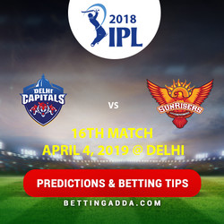 Delhi Capitals vs Sunrisers Hyderabad 16th Match Prediction Betting Tips Preview