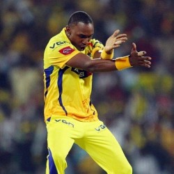 Dwayne Bravo Highest wicket taker of the event so far