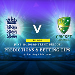 England vs Australia 3rd ODI Prediction Betting Tips Preview