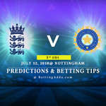 England vs India 1st ODI Prediction Betting Tips Preview