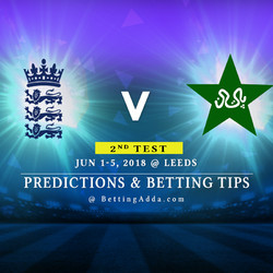 England vs Pakistan 2nd Test Prediction Betting Tips Preview