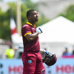 Evin Lewis West Indies v India 1st T20