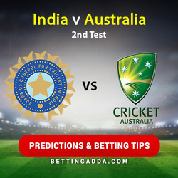India v Australia 2nd Test Predictions and Betting Tips