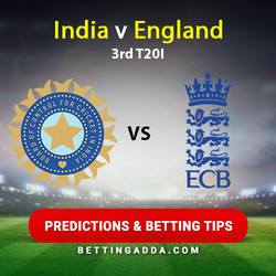 India v England 3rd T20I Predictions and Betting Tips