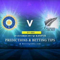 India v New Zealand 3rd ODI Kanpur 29 October 2017 Predictions Betting Tips