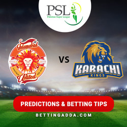 Islamabad United vs Karachi Kings 15th Match Prediction Betting Tips Preview