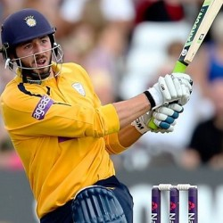James Vince Leading Hampshire from the front