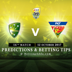 JLT Cup 2017 Cricket Australia XI v Tasmania 16th Match Prediction and Betting Tips