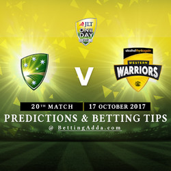 JLT Cup 2017 Cricket Australia XI v Western Australia 20th Match Prediction and Betting Tips
