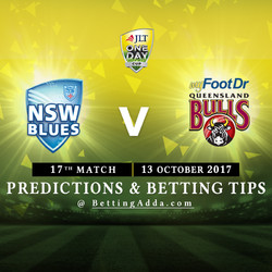 JLT Cup 2017 New South Wales v Queensland 17th Match Prediction and Betting Tips