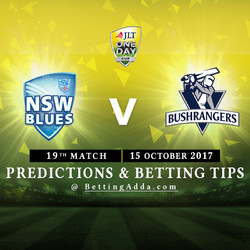 JLT Cup 2017 New South Wales v Victoria 19th Match Prediction and Betting Tips