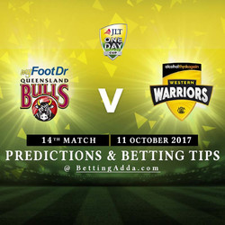JLT Cup 2017 Queensland v Western Australia 14th Match Prediction and Betting Tips