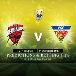 JLT Cup 2017 South Australia v Tasmania 12th Match Prediction and Betting Tips