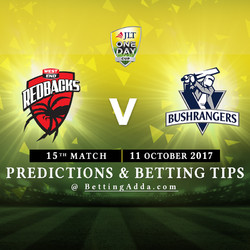 JLT Cup 2017 South Australia v Victoria 15th Match Prediction and Betting Tips