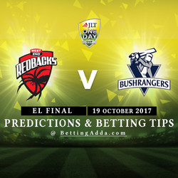 JLT Cup 2017 South Australia v Victoria Elimination Final Match Prediction and Betting Tips