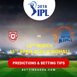 Kings XI Punjab vs Chennai Super Kings 12th Match Prediction Betting Tips Preview
