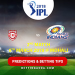 Kings XI Punjab vs Delhi Daredevils 2nd Match Prediction Betting Tips Preview