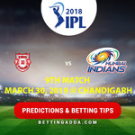 Kings XI Punjab vs Mumbai Indians 9th Match Prediction Betting Tips Preview