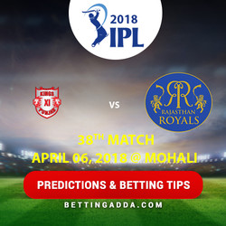 Kings XI Punjab vs Rajasthan Royals 38th Match Prediction Betting Tips Preview