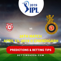 Kings XI Punjab vs Royal Challengers Bangalore 28th Match Prediction Betting Tips Preview