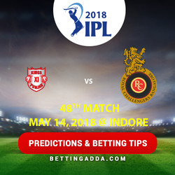 Kings XI Punjab vs Royal Challengers Bangalore 48th Match Prediction Betting Tips Preview