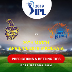 Kolkata Knight Riders vs Chennai Super Kings 29th Match Prediction Betting Tips Preview