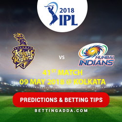 Kolkata Knight Riders vs Mumbai Indians 41st Match Prediction Betting Tips Preview
