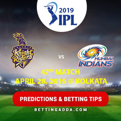 Kolkata Knight Riders vs Mumbai Indians 47th Match Prediction Betting Tips Preview