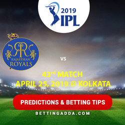 Kolkata Knight Riders vs Rajasthan Royals 43rd Match Prediction Betting Tips Preview