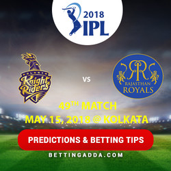Kolkata Knight Riders vs Rajasthan Royals 49th Match Prediction Betting Tips Preview