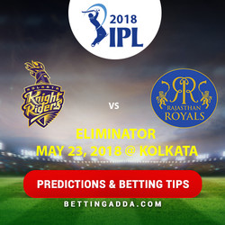 Kolkata Knight Riders vs Rajasthan Royals Eliminator Prediction Betting Tips Preview