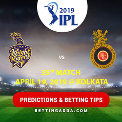 Kolkata Knight Riders vs Royal Challengers Bangalore 35th Match Prediction Betting Tips Preview