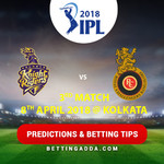 Kolkata Knight Riders vs Royal Challengers Bangalore 3rd Match Prediction Betting Tips Preview