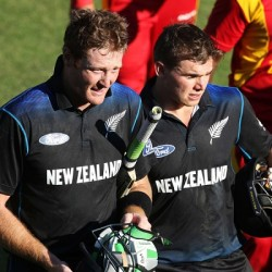 Martin Guptill and Tom Latham The two centurions
