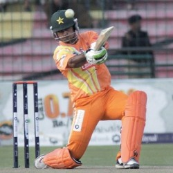 Mohammad Hafeez Only batsman who resisted against Abbottabad Region