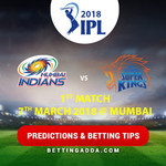 Mumbai Indians vs CSK 1st Match Prediction Betting Tips Preview