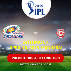 Mumbai Indians vs Kings XI Punjab 24th Match Prediction Betting Tips Preview