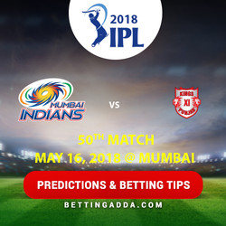Mumbai Indians vs Kings XI Punjab 50th Match Prediction Betting Tips Preview